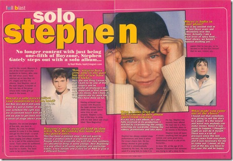 stephen gately teens today interview