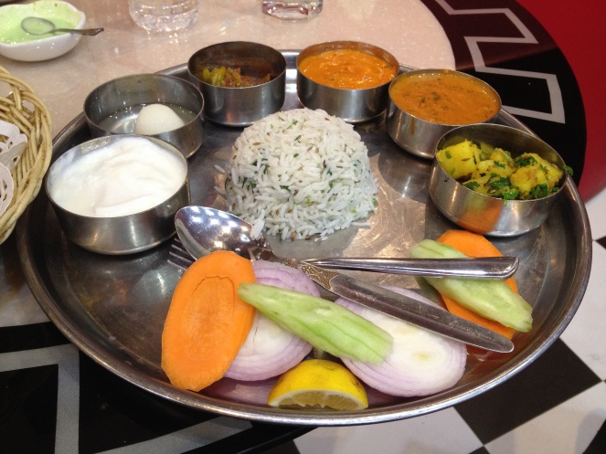 Veg Thali in Yiwu City, China